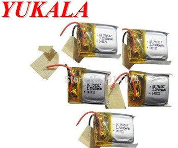 YUKALA CX-10 cx10/ JXD-395 /LS111 /U207/v272 v282 v292 RC Quadcopter Parts 3.7V 100mah Li-polymer battery